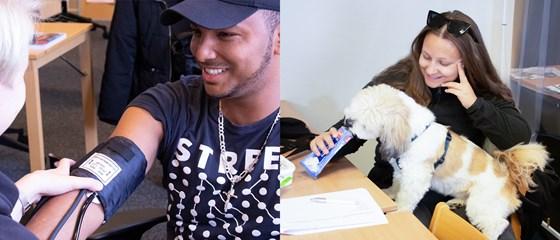 Deltagare på undersköterskekurs och hundkurs, två kurser där Vi-deltagare har möjlighet att få extra stöd för att klara studierna